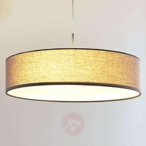 Sebatin grey fabric pendant lamp with E27 LEDs-9620322-32