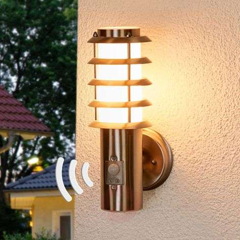 Selina - sensor outdoor wall light with a grid