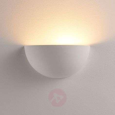 Semi-circ. plaster LED wall uplighter Narin, white