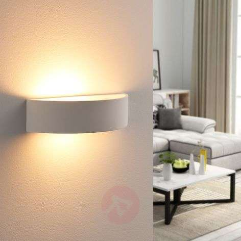 Semi-circ. plaster wall lamp Aurel, Easydim LED
