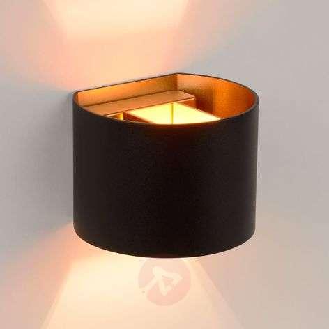 Semi-circular LED wall lamp Xio in black-6055295-31