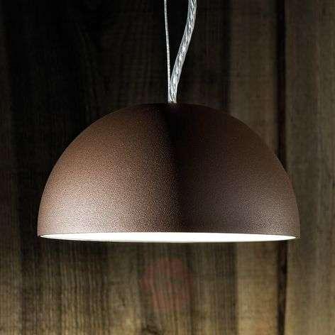 Semi-circular pendant light Dune - brown