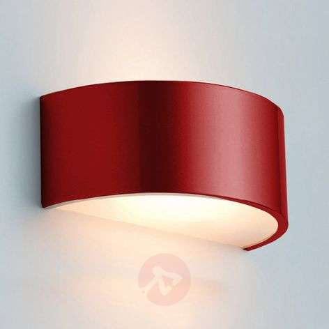 Semi-circular wall light LANA, red