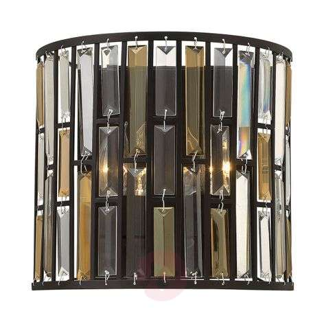Semi-cylindrical wall light Gemma with crystals