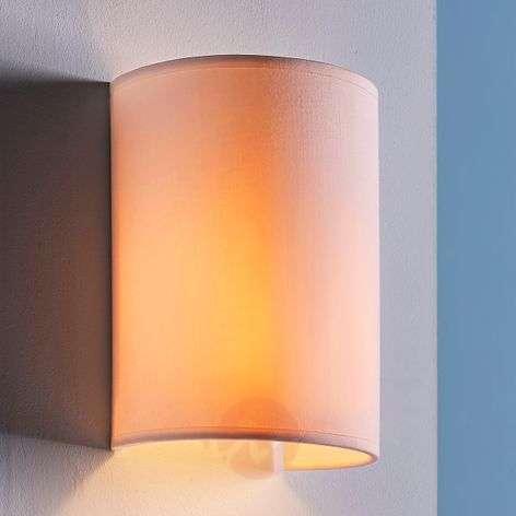 Semicylindrical fabric wall light Annalisa, white-9620875-32