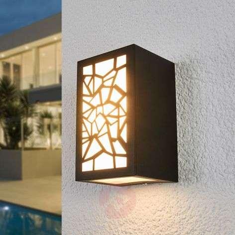 Semina patterned LED outdoor wall light