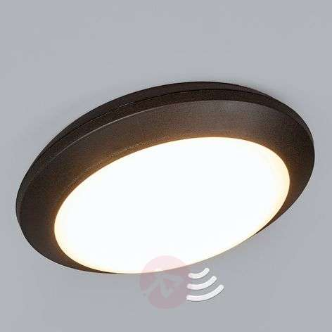 Sensor ceiling light Umberta black 11 W 3,000 K