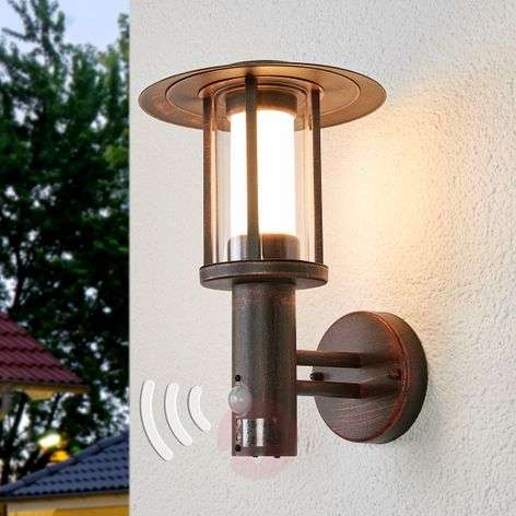 Sensor outdoor wall light Pavlos with LED