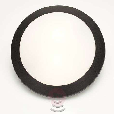 Sensor wall lamp Umberta 2 x E27 in black