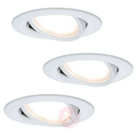 Set of 3 LED recessed lights Coin Slim white IP23