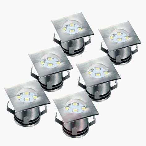 Set of 6 - LED recessed floor light Ranex