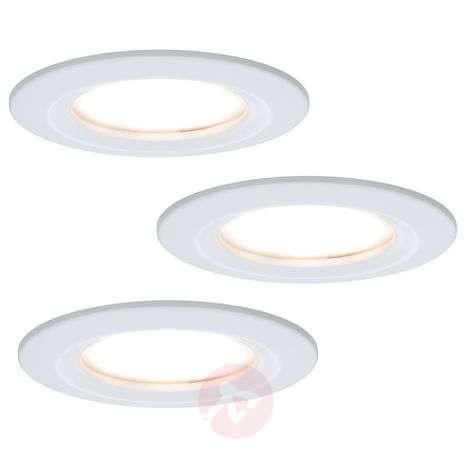 Set of three coin slim led recessed lights ip44 lights ie
