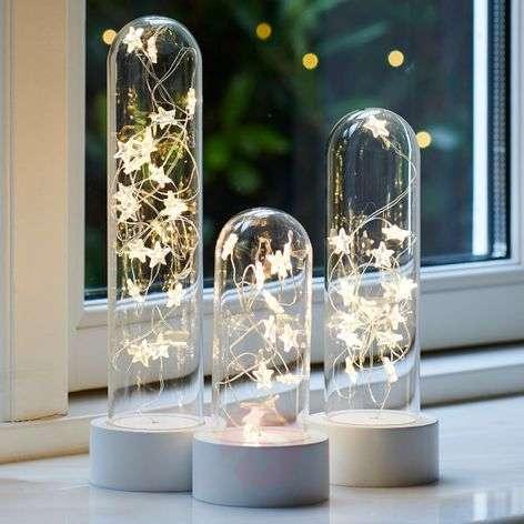 Set of three LED decorative stars Bella Star