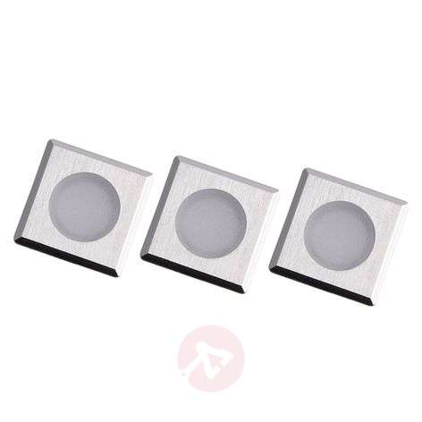 Set of three Würzburg LED recessed floor lights