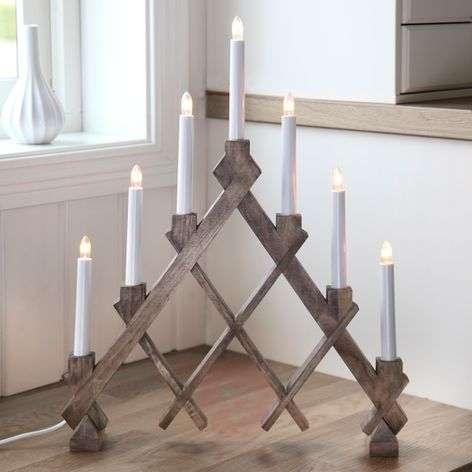 Seven-light candleholder Rut brown