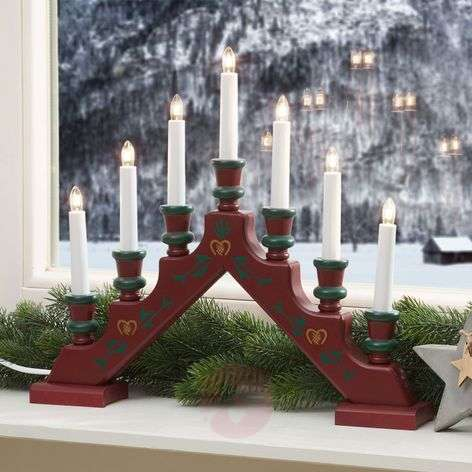 Seven-light red candle arch Sara Tradition
