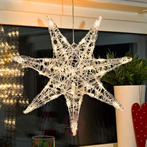 Seven-pointed acrylic star Iselin with LEDs