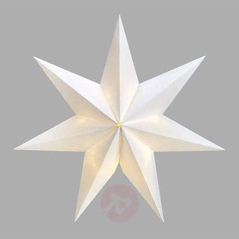 Seven-pointed LED star Malva with suction cap