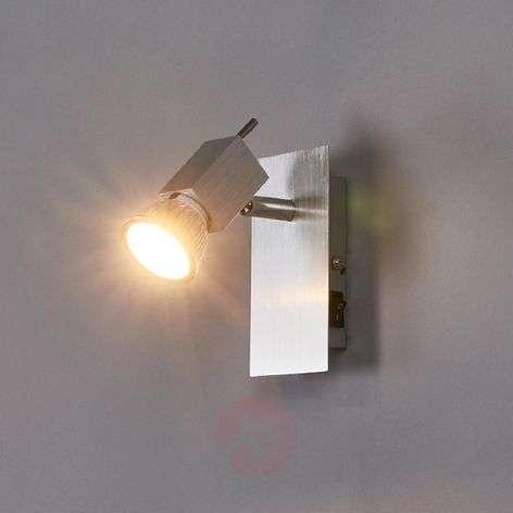 Sevina wall spotlight, brushed aluminium-9634005-33
