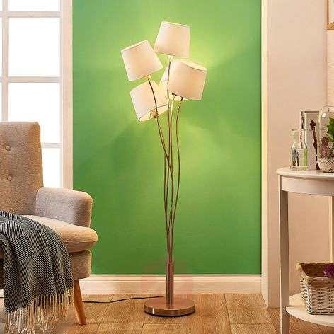 Sharon - floor lamp with fabric lampshades