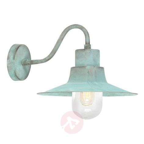 Sheldon - green patinated outdoor wall light