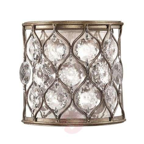 Shimmering crystal wall light Lucia