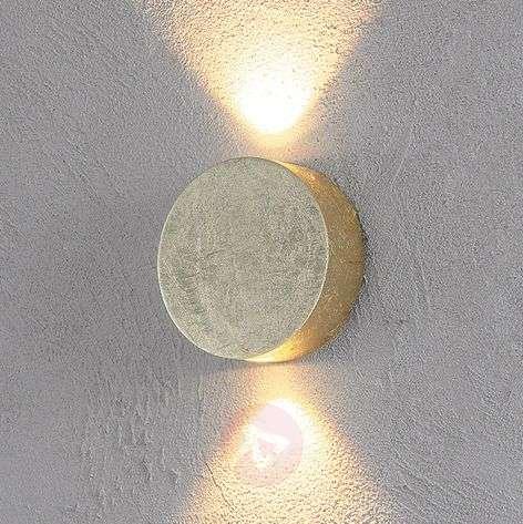 Shiny gold LED wall light Sunny