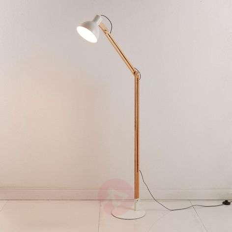 Shivanja floor lamp made of wood/metal