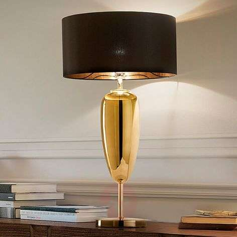 Show Ogiva - black-gold fabric table lamp