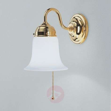 Sibille polished brass wall light
