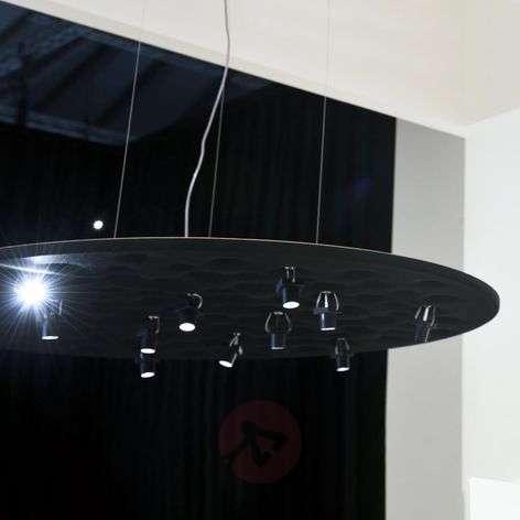 Silent Field black designer pendant light with LED