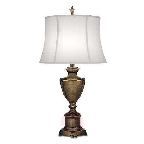 Silk lampshade -table lamp City Hall