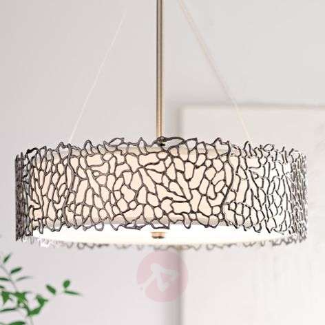 Silver Coral hanging light, 55.9 cm