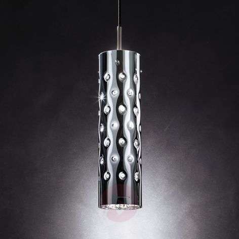 Silver Dimple hanging lamp, one-bulb