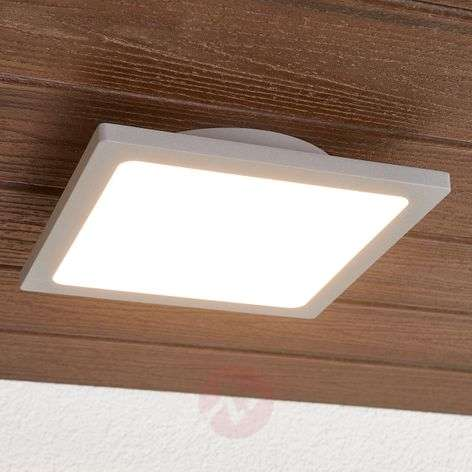 Silver grey LED ceiling lamp for outdoors