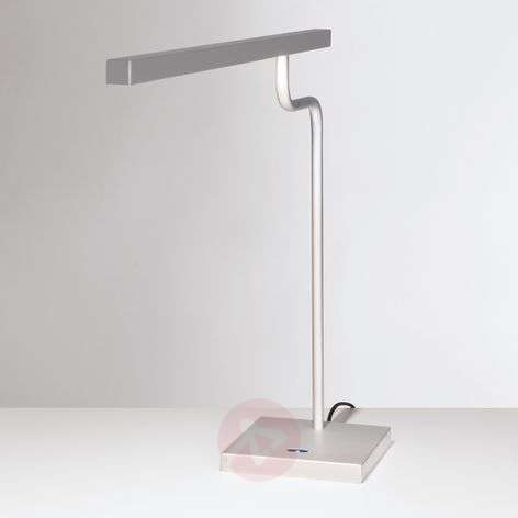 Silver grey LED desk lamp MicroStick