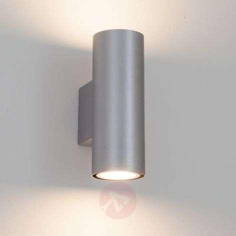 Silver Kabir LED wall light, 2-bulb
