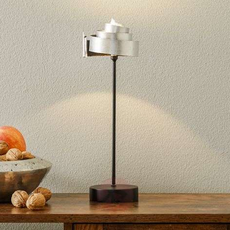Silver table lamp BANDEROLE - iron