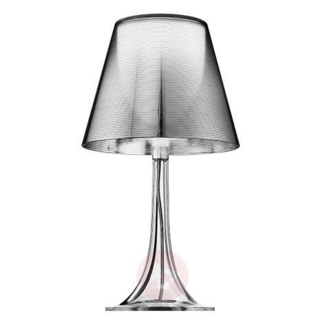 Silver table lamp MISS K with a retro design