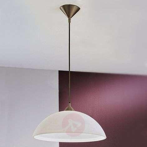 Simple hanging light Kinga, opal glass lampshade-7255343-31