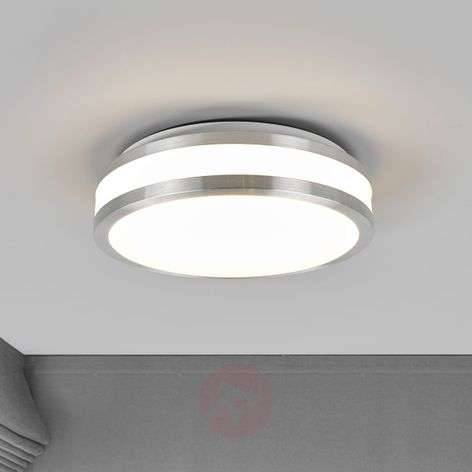 Simple LED ceiling light Edona, aluminium frame