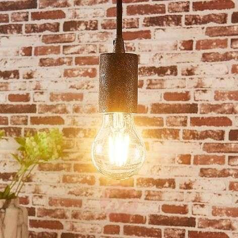 Simple pendant lamp Jake, antique rust