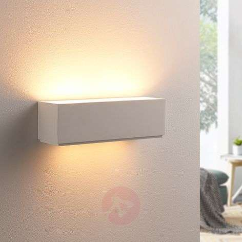 Simple plaster wall lamp Benno, G9 LED
