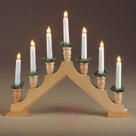 Simple wooden candleholder Pyramid, natural