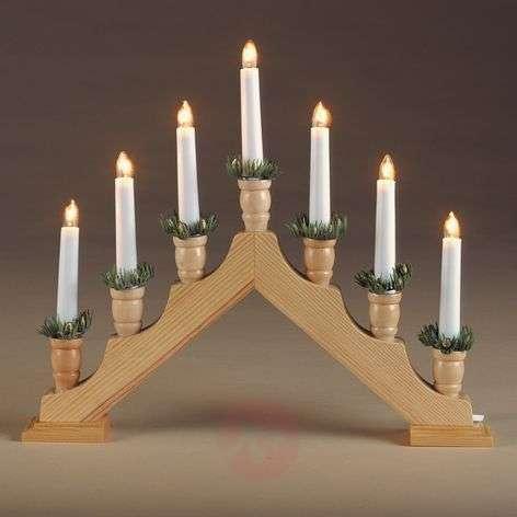 Simple wooden candleholder Pyramid, natural