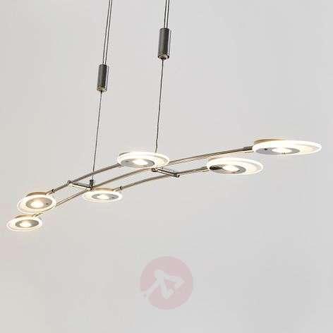 Six-bulb LED hanging lamp Alecia, height-adj.