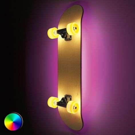 Skateboard with light- Light Cruiser LED wall lamp