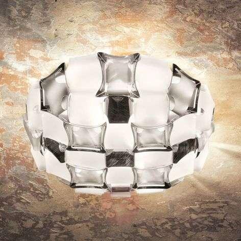 Slamp Mida ceiling light, 50 cm white and platinum
