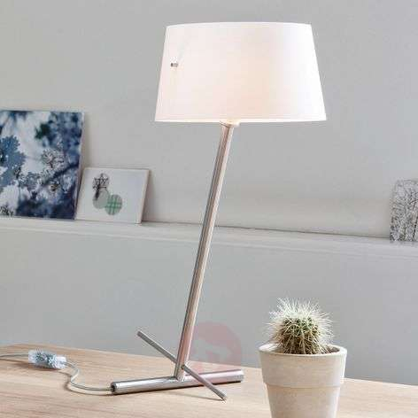 Slant - a slanted designer fabric table lamp