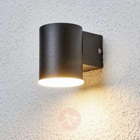 Sleek Morena LED outdoor wall lamp in black